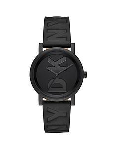 dkny-dkny-black-dial-black-logo-embossed-leather-strap-ladies-watch