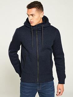 superdry-bonded-knit-zipped-hoodie-navy