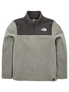 the-north-face-youth-glacier-blocked-14-zip-recycled-jacket-grey