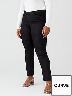 junarose-curvenbspfivesaklin-snake-coated-jean-black