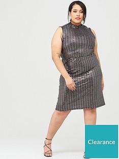 junarose-curvenbspiruk-high-neck-embellished-dress-black