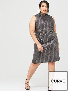 junarose-iruk-high-neck-embellished-dress-black