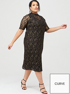 junarose-juli-high-neck-lace-midi-dress-black