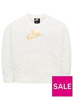 nike-air-sportswear-girls-fleece-crew-sweat-top-cream