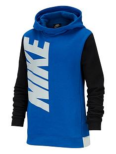 nike-childrens-core-amplify-hbr-overhead-hoodie-blackblue