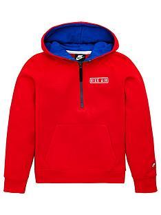 nike-air-half-zip-hoodie-red