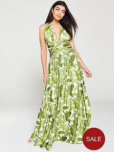 u-collection-forever-unique-cross-backnbsptropical-maxi-dress-whitegreen