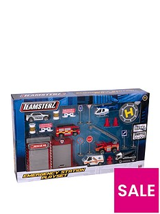 teamsterz-3-die-cast-emergency-station-playset