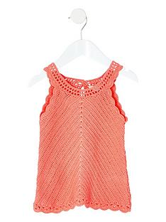 river-island-mini-mini-girls-crochet-vest-coral