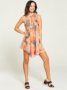 river-island-river-island-printed-halter-neck-beach-dress-coral