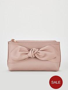 ted-baker-leather-soft-knot-make-up-bag-dusky-pink