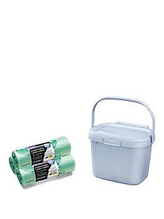 addis-eco-compost-food-caddy-bin-with-60-compostable-liner-bags