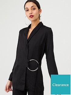 v-by-very-animal-jacqaurd-ring-detail-soft-jacket-black