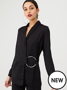 v-by-very-animal-jacqaurd-ring-detail-soft-jacket-black