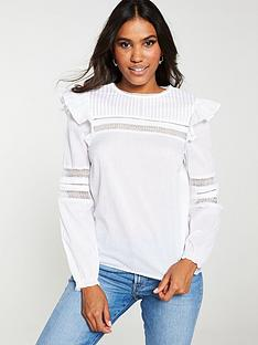 v-by-very-ladder-trim-cotton-blouse-ivory