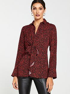 v-by-very-tie-front-formal-blouse-print