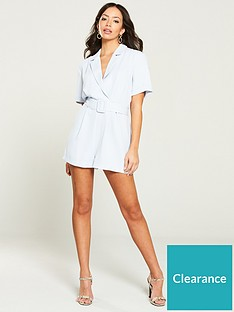 river-island-river-island-belted-tailored-playsuit--blue