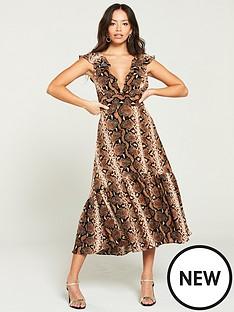 river-island-river-island-snake-print-midi-dress--brown