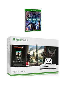 xbox-one-s-xbox-one-s-1tbnbspconsole-with-tom-clancys-division-2-amp-crackdown-3-plus-optional-extras