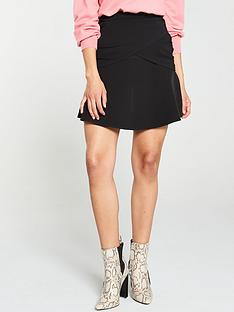 v-by-very-wrap-front-mini-skirt-black