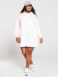 nike-nsw-heritage-hooded-dress-curve-pinknbsp