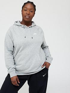 prod1088773730: NSW Essential OTH Hoodie (Curve) - Dark Grey Heather