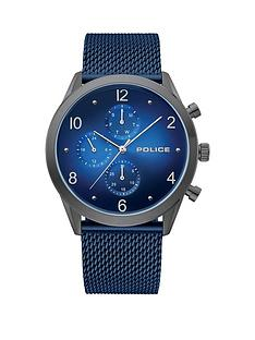 police-police-blue-chronograph-dial-blue-stainless-steel-mesh-strap-mens-watch