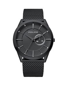 police-police-matt-back-dial-black-stainless-steel-mesh-strap-mens-watch