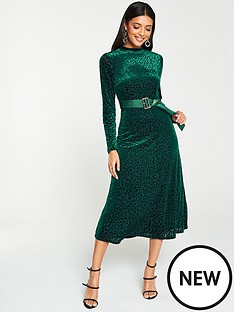 v-by-very-leopard-devorenbspmidi-dress-green