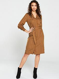 v-by-very-stripe-button-through-shirt-dress