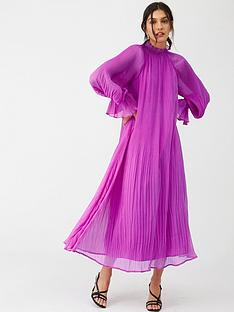 v-by-very-pleated-swing-midi-dress-purple