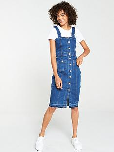v-by-very-denim-midi-dress-with-straps-blue