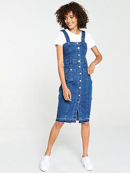 v-by-very-denim-midi-dress-with-straps-blue