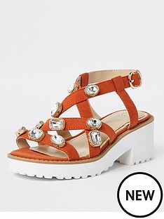 river-island-girls-embellished-clumpy-sandals-orange