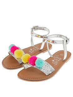 accessorize-girlsnbsppom-pom-glitter-sandals-pastel