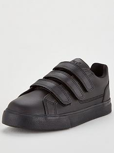 kickers-tovni-triple-strap-school-shoes-black