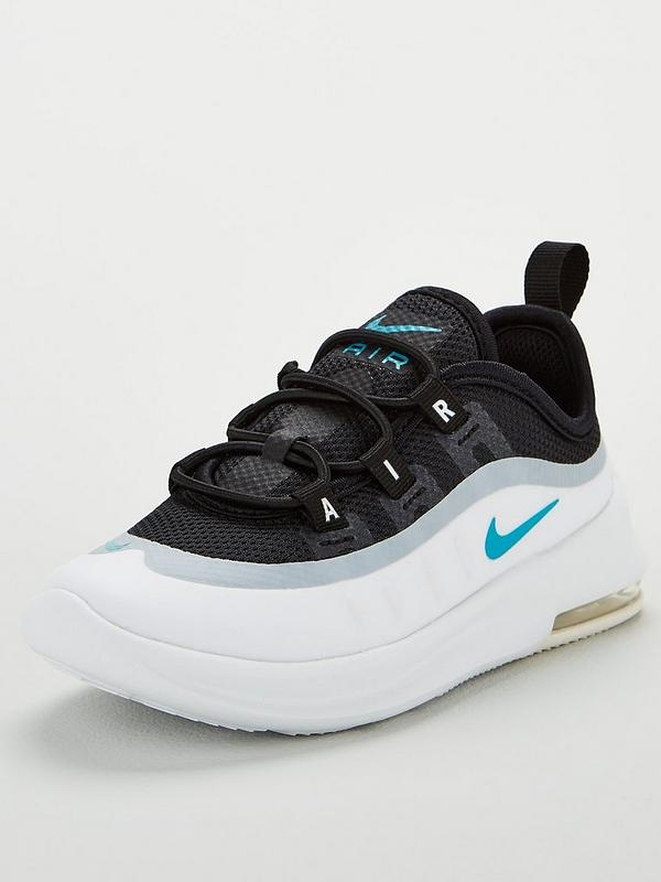lujo productos de calidad gran selección Nike Air Max Axis Infant Trainers - Black/White/Blue ...