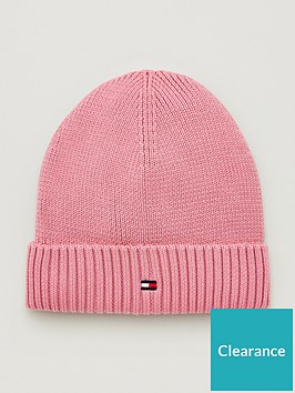 tommy-hilfiger-girls-knitted-beanie-hat-pink