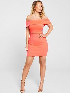 kate-wright-bardot-bodycon-mini-dress-neon-pink