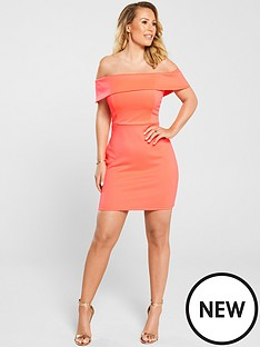 kate-wright-bardot-bodycon-mini-dress-neon-pink