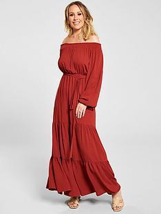 kate-wright-bardot-tiered-maxi-dress-rust