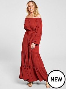 kate-wright-bardot-tiered-maxi-dress-rust