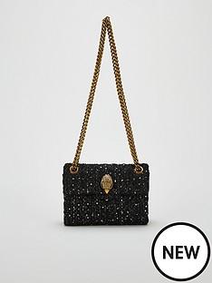 kurt-geiger-london-tweed-mini-kensington-bag-black