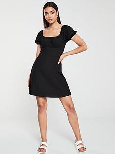v-by-very-ruched-shoulder-mini-dress