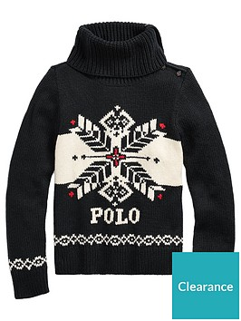 ralph-lauren-girls-snowflake-knitted-jumper-black