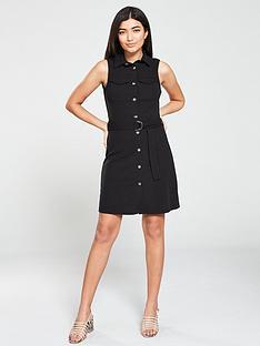 v-by-very-utility-belted-jersey-dress-black