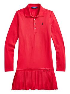 ralph-lauren-girls-classic-pleated-polo-dress-red