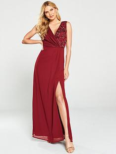 little-mistress-embellished-wrap-maxi-dress-berry