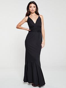 little-mistress-lace-trim-maxi-dress-black