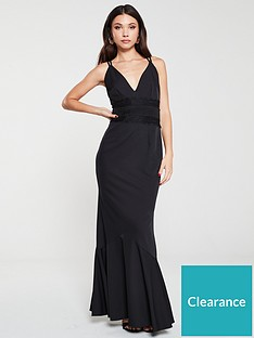 little-mistress-lace-trim-maxi-dress-black